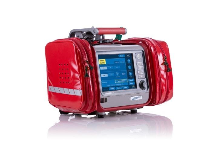 Halterung und Tasche für Defibrillatoren und Beatmungsgeräte